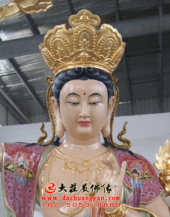 铜像四大菩萨之文殊菩萨佛像特写